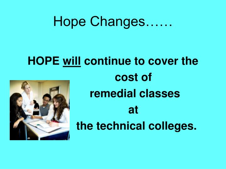 Hope Changes……