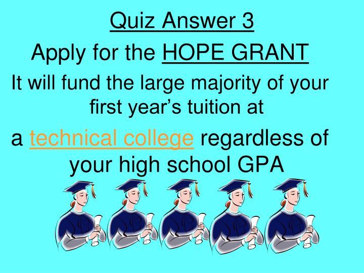 Quiz Answer 3