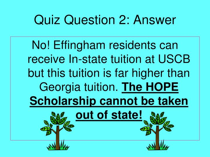 Quiz Question 2: Answer