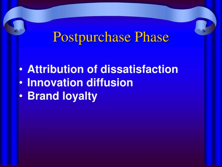 Postpurchase Phase