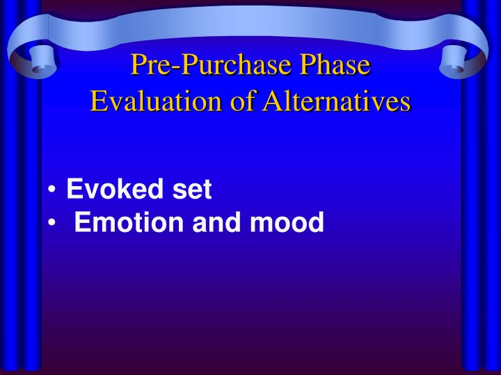 Pre-Purchase Phase