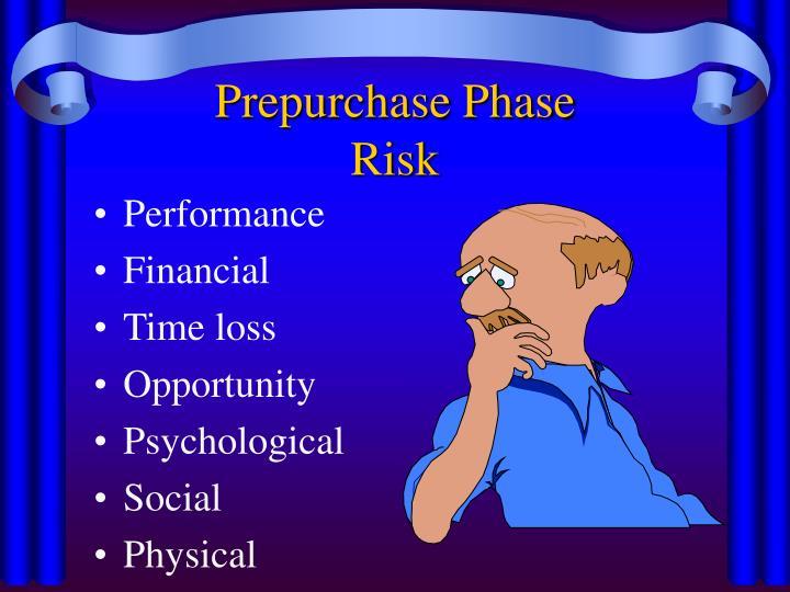Prepurchase Phase
