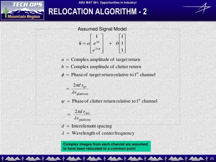 RELOCATION ALGORITHM - 2