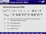 weight calculation mne