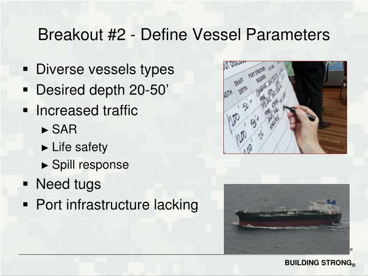 Breakout #2 - Define Vessel Parameters