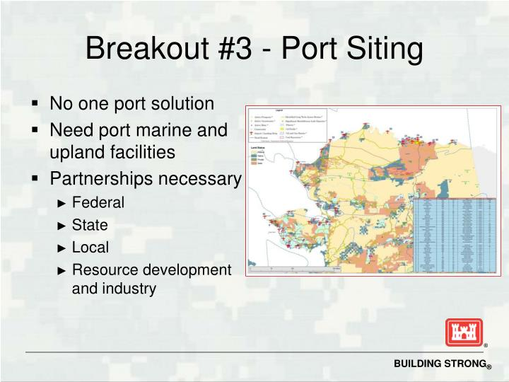 Breakout #3 - Port Siting