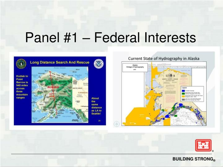 Panel #1 – Federal Interests