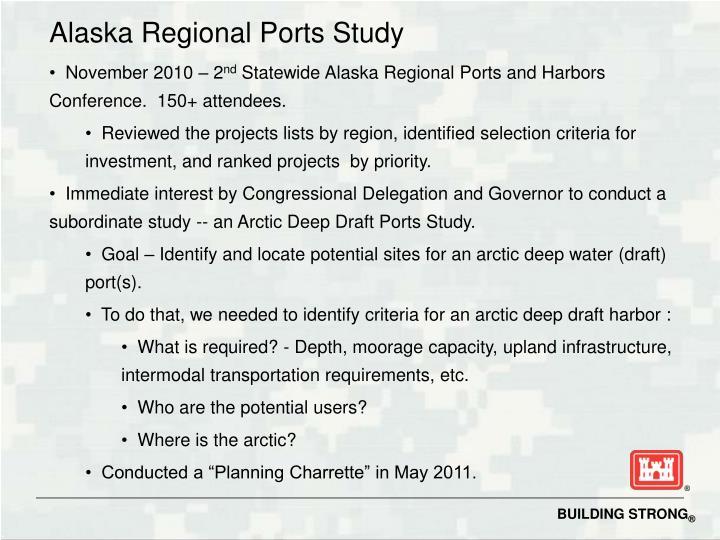 Alaska Regional Ports Study