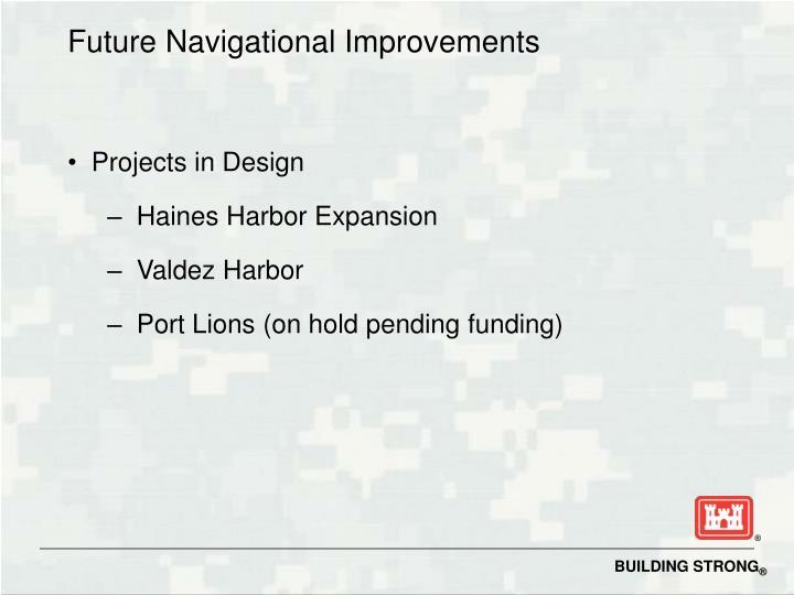 Future Navigational Improvements