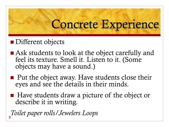 Concrete Experience