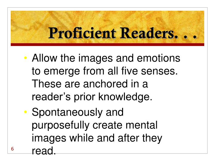 Proficient Readers. . .