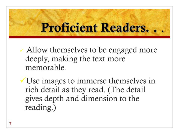 Proficient Readers. .