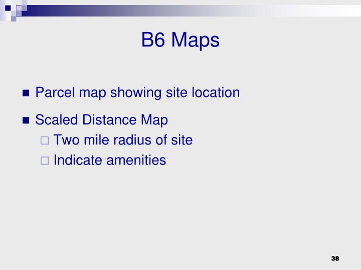 B6 Maps