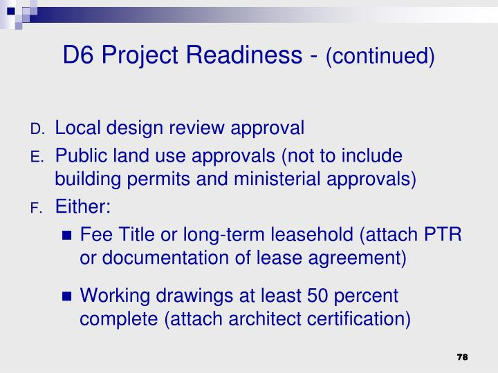 Local design review approval