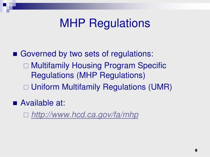 MHP Regulations