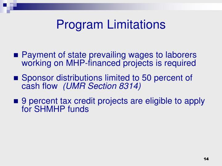 Program Limitations