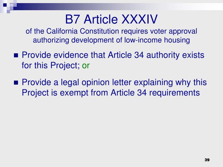 B7 Article XXXIV
