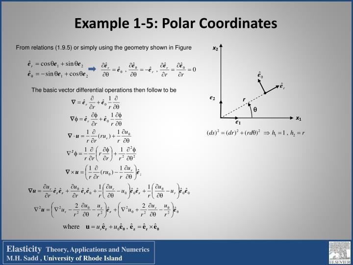 Example 1-5: Polar Coordinates