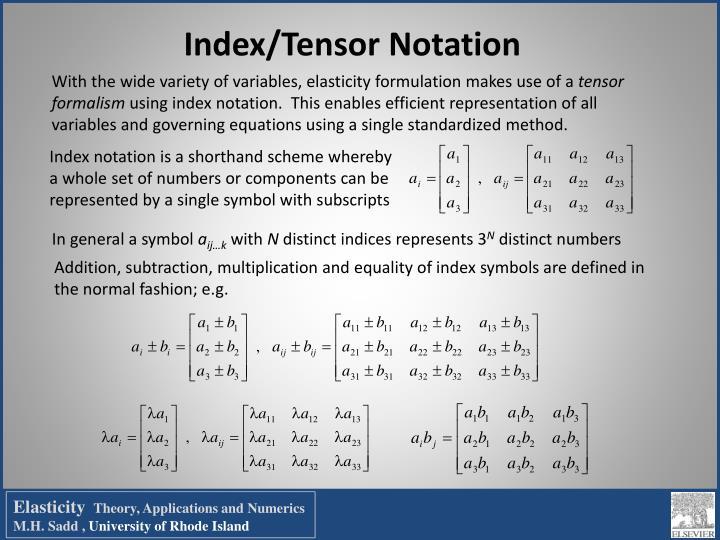 Index/Tensor Notation