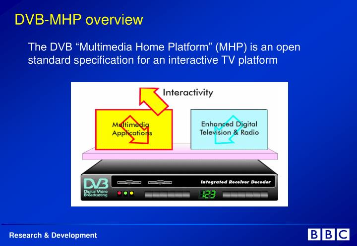 "The DVB ""Multimedia Home Platform"" (MHP) is an open standard specification for an interactive TV platform"
