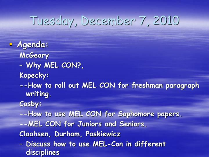 Tuesday, December 7, 2010
