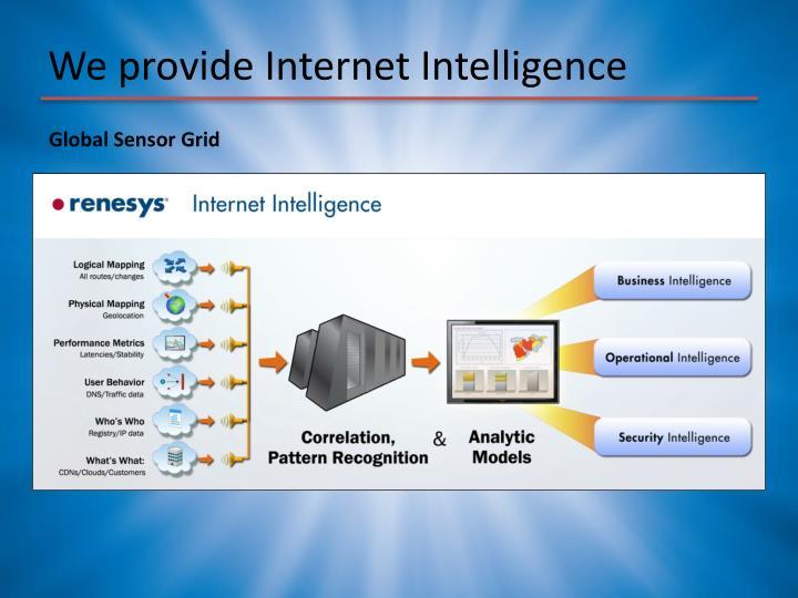We provide Internet Intelligence