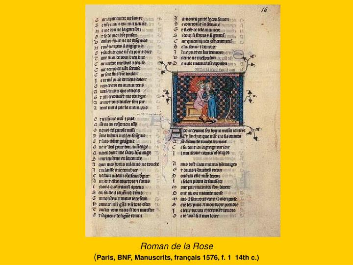 Roman de la rose paris bnf manuscrits fran ais 1576 f 1 14th c