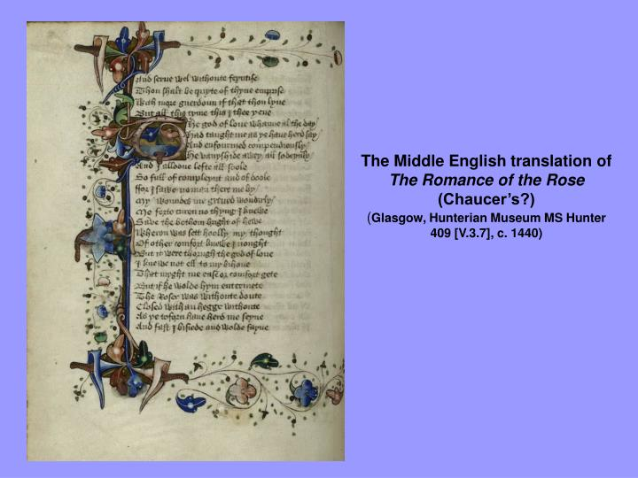 The Middle English translation of