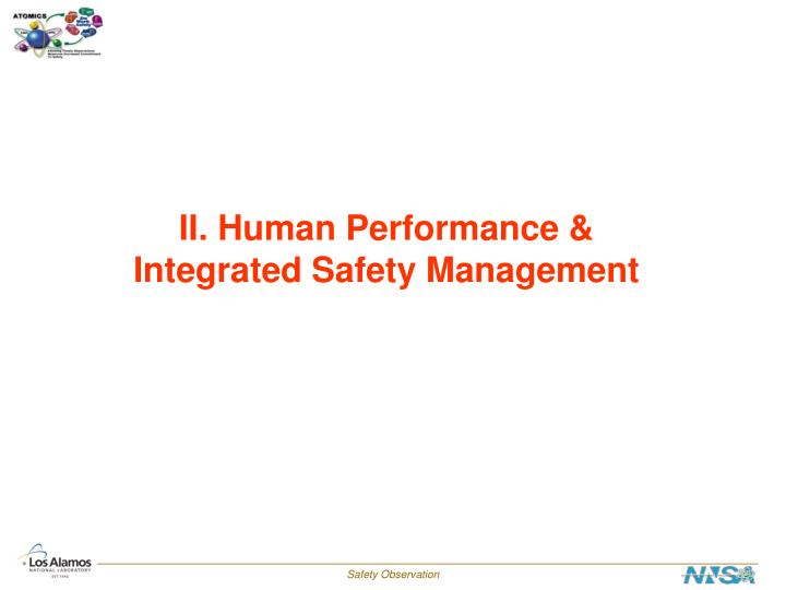 II. Human Performance &