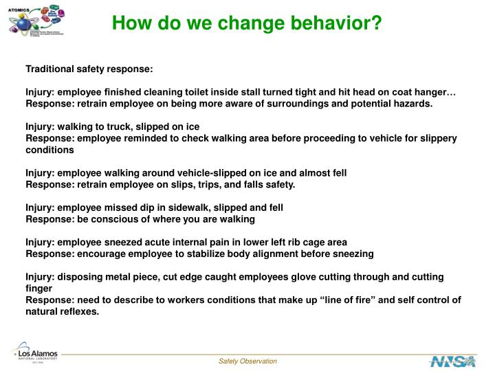 How do we change behavior?