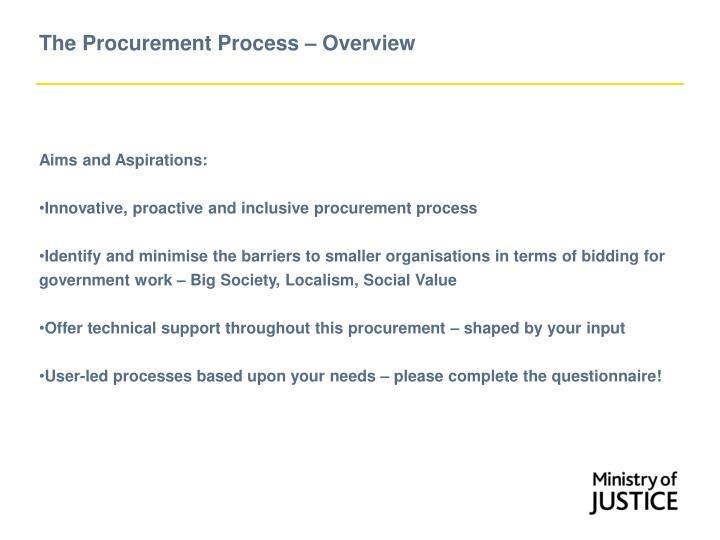 The Procurement Process – Overview