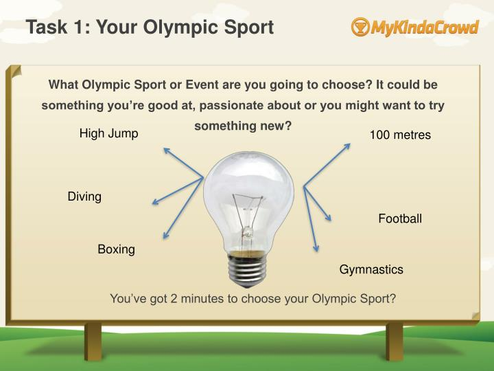 Task 1: Your Olympic Sport