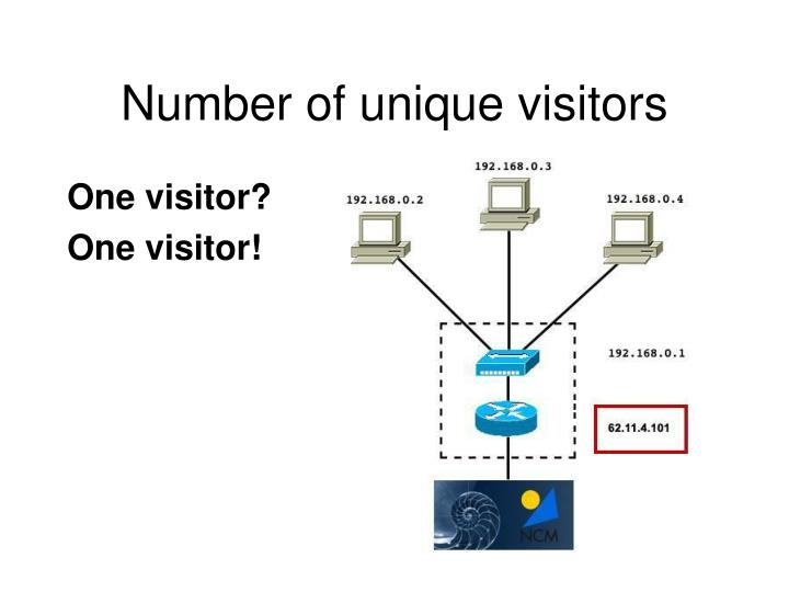Number of unique visitors