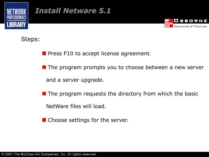 Install Netware 5.1