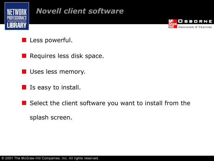 Novell client software