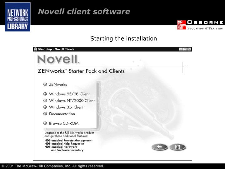 Novell client software