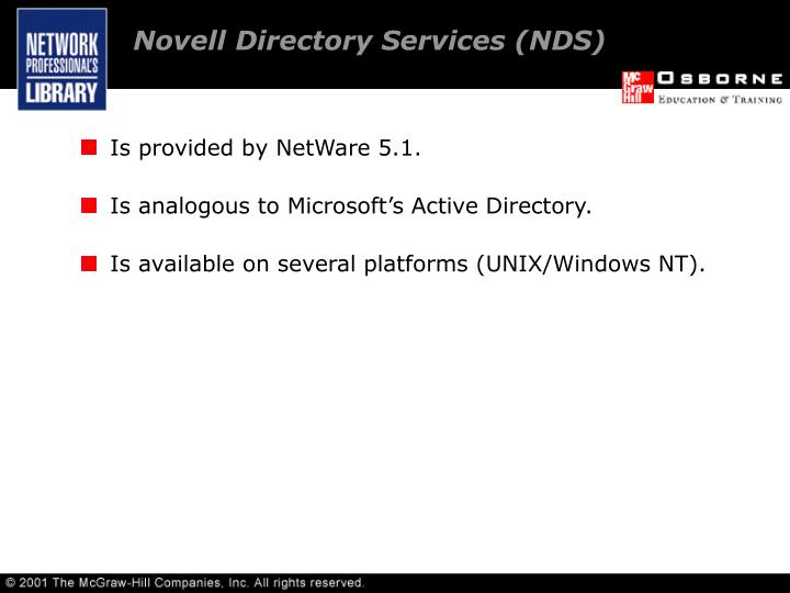 Novell Directory Services (NDS)
