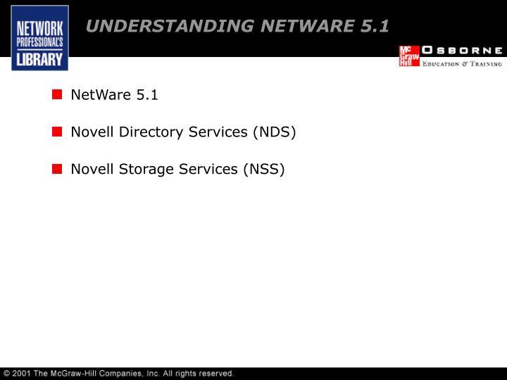 UNDERSTANDING NETWARE 5.1