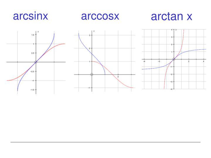 arcsinx