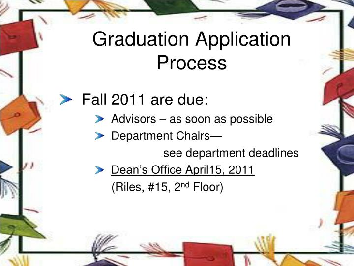Graduation Application Process
