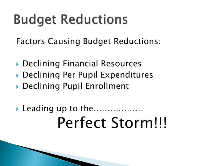 Budget Reductions
