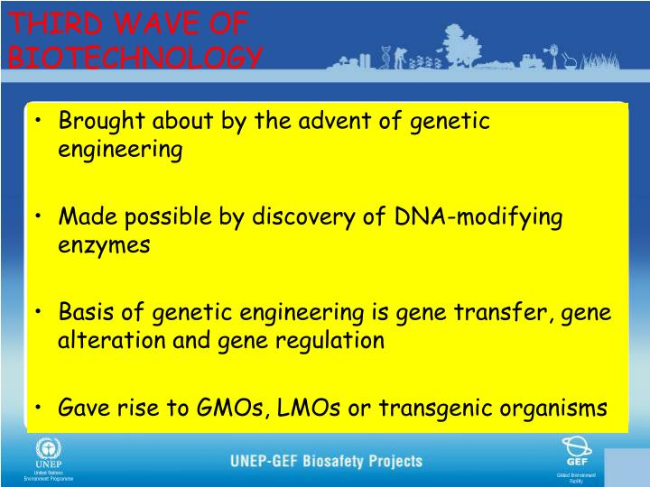 THIRD WAVE OF BIOTECHNOLOGY