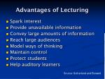 advantages of lecturing