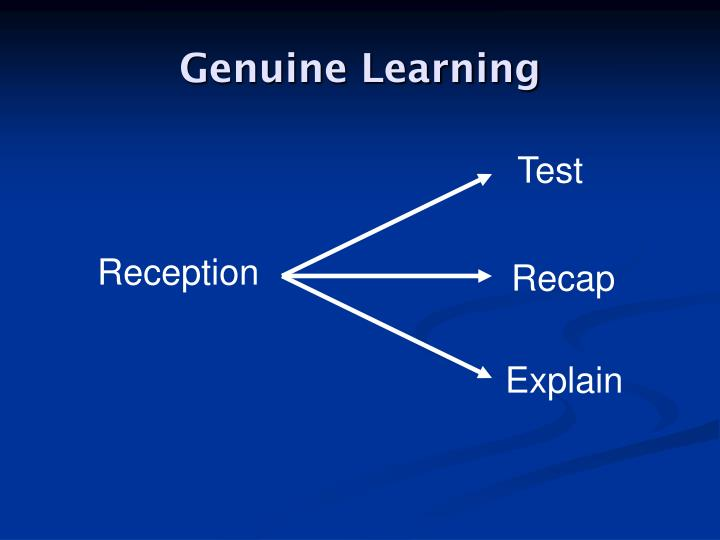 Genuine Learning