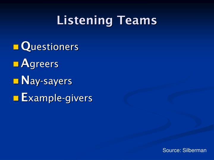 Listening Teams