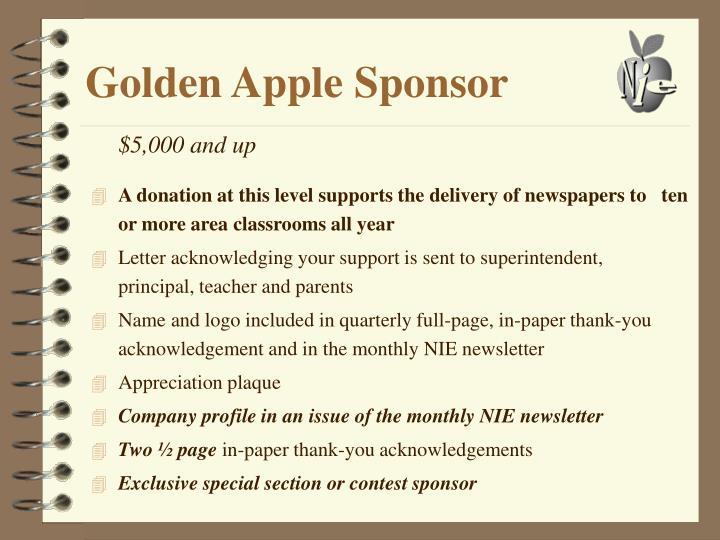 Golden Apple Sponsor