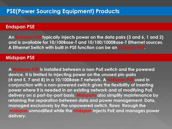 PSE(Power Sourcing Equipment) Products