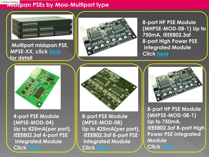 Midspan PSEs by Moa-Multiport type