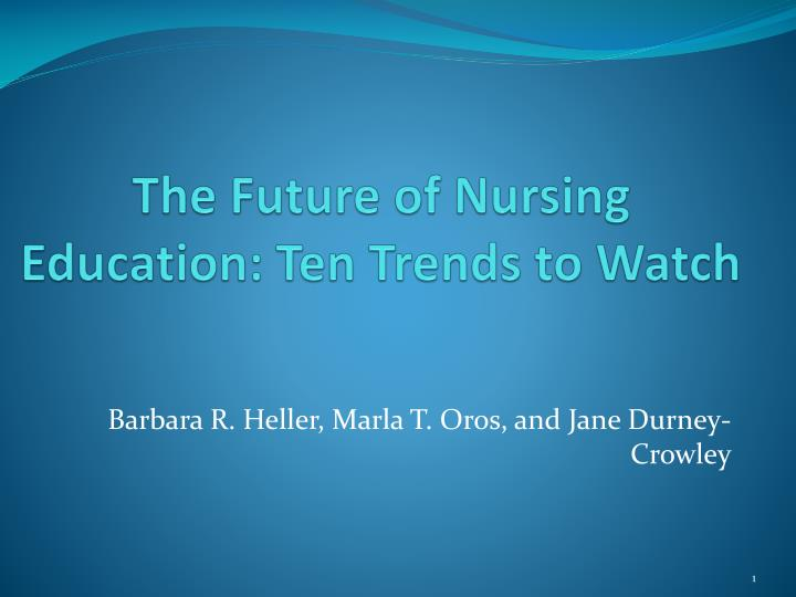 future of nursing 2 essay