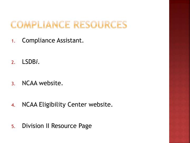 Compliance Resources